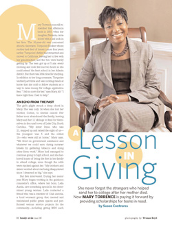 Family Circle - Lessons in Giving