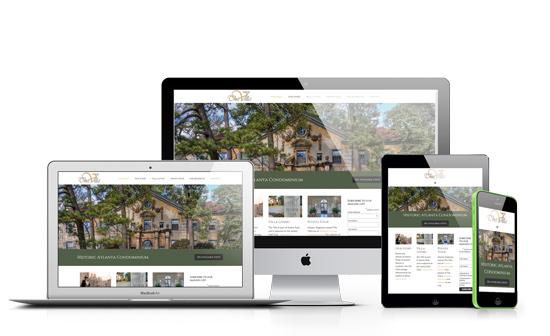 The Villa Atlanta Website - Red Fork Studio
